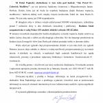 List. ks. prał. Jana Droba przewodniczącego Zarządu Fundacji DNT